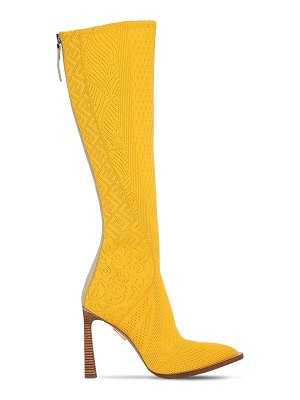 Fendi 105mm jacquard tall boots