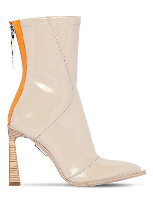 Fendi 85mm faux patent leather ankle boots