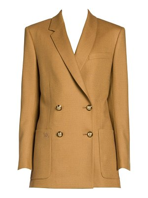 Fendi birdseye wool double-breasted blazer
