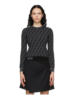 Fendi black and grey forever  sweater