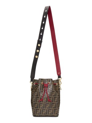 Fendi black and red forever  mon tresor bag