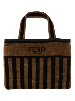 Fendi brown and black convertible towel tote