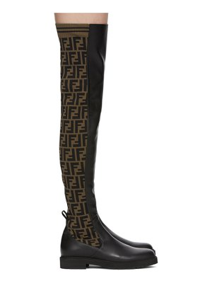 Fendi brown and black forever  tall boots