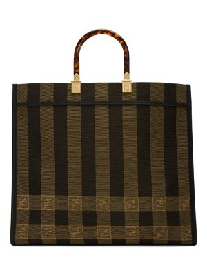 Fendi brown medium sunshine shopper tote
