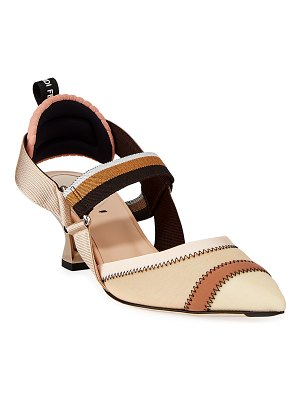 Fendi Colibri 55mm Fabric Slingback Pumps