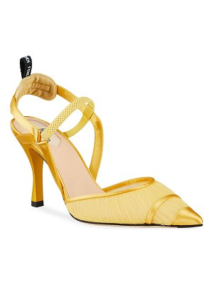 Fendi Colibri Ruched Slingback Pumps