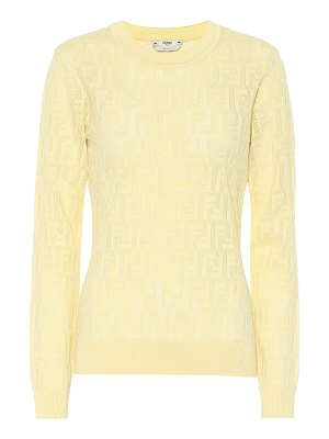 Fendi cotton-blend knit top