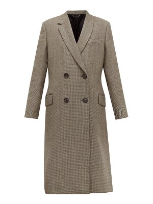 Fendi double breasted bow back houndstooth wool coat