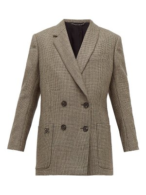 Fendi double breasted bow back houndstooth wool jacket