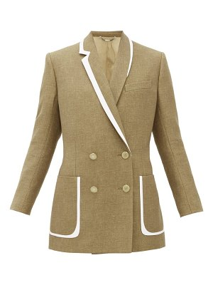 Fendi double-breasted bow-back wool-blend jacket