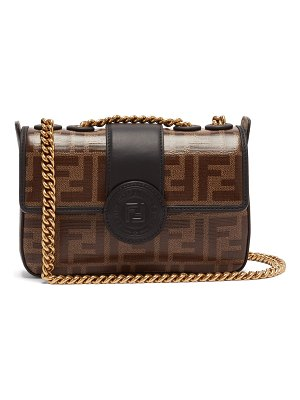 Fendi Double F leather mini baguette bag