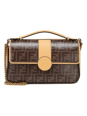 Fendi Double F leather shoulder bag