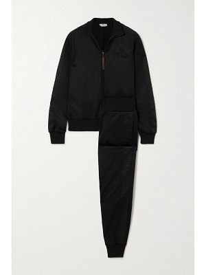 Fendi embossed jersey-piqué track jacket and pants set