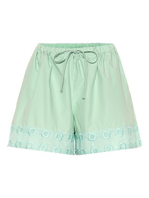 Fendi Embroidered cotton shorts