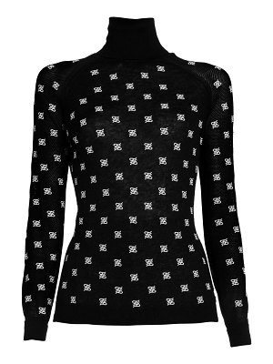 Fendi embroidered logo turtleneck sweater