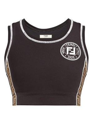 Fendi f is fendi logo trimmed sports bra