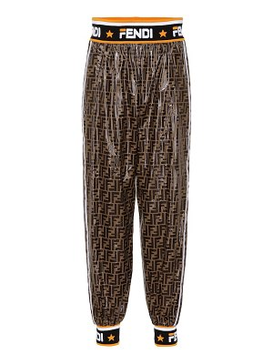 Fendi FENDI MANIA coated pants