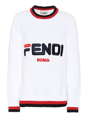 Fendi fendi mania cotton sweater