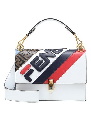Fendi fendi mania kan i leather shoulder bag