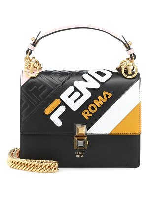 Fendi fendi mania kan i mini leather shoulder bag