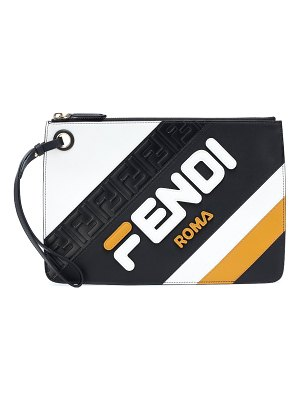 Fendi FENDI MANIA leather clutch