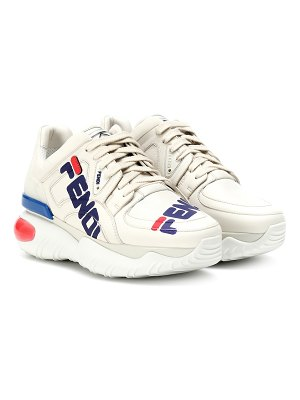 Fendi fendi mania leather sneakers