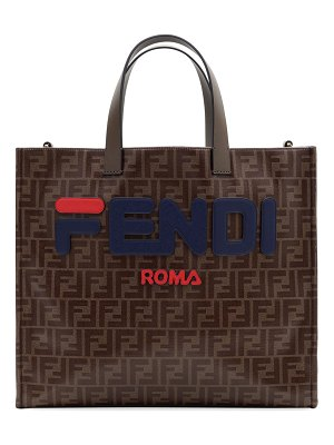 Fendi Fendi Runway Collection Regular Calf and Canvas Tote Bag