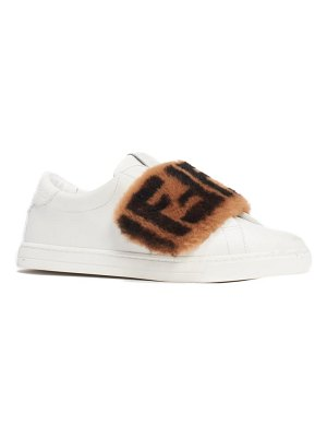 Fendi ff genuine shearling slip-on sneaker
