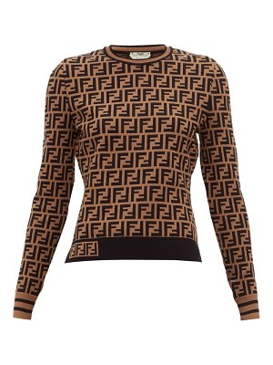 Fendi ff jacquard knitted top