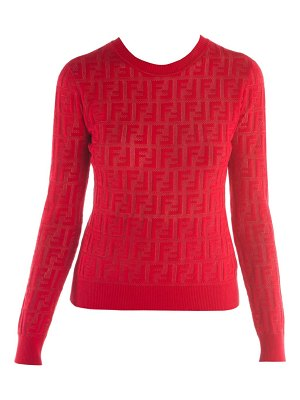 Fendi ff jacquard logo knit sweater