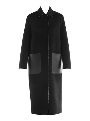 Fendi ff logo reversible wool coat