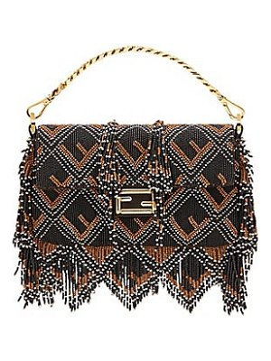 Fendi ff mini beaded baugette bag