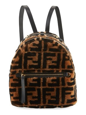 Fendi FF Sheepskin Fur Backpack