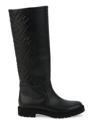 Fendi ff tall leather boots