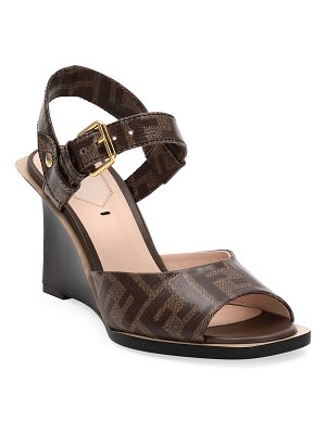 Fendi FF Wedge Sandals