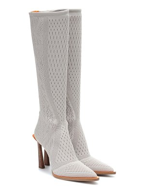 Fendi fframe jacquard knee-high boots