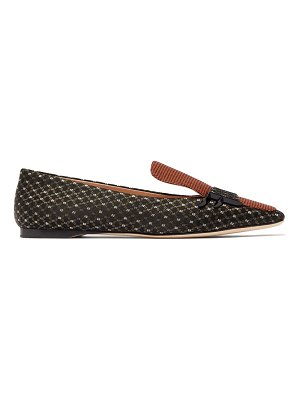 Fendi ffreedom square toe jacquard loafers