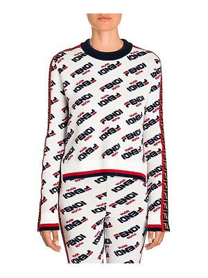 Fendi mania logo stripe knit sweater