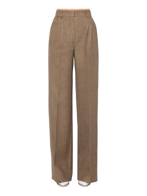 Fendi Flared wool & silk flannel pants
