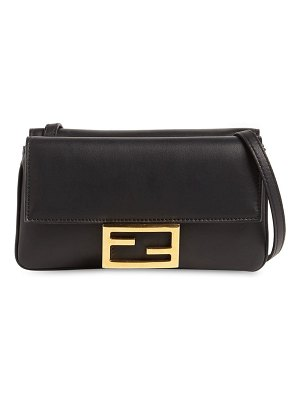 Fendi Flat baguette leather shoulder bag
