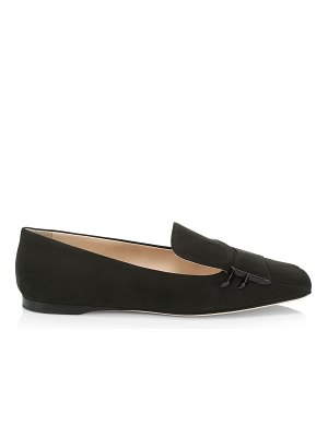 Fendi freedom suede loafers
