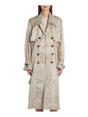 Fendi gingham silk taffeta trench coat