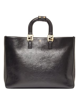 Fendi glacier medium leather tote bag