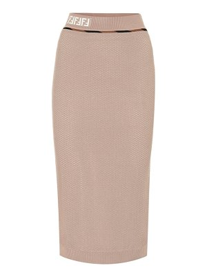 Fendi high-rise mesh skirt