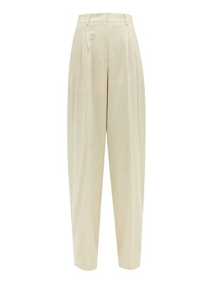 Fendi high rise wool blend wide leg trousers