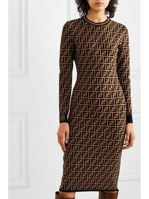 Fendi jacquard-knit midi dress