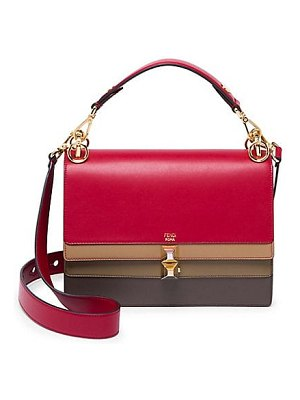 Fendi kan i leather satchel
