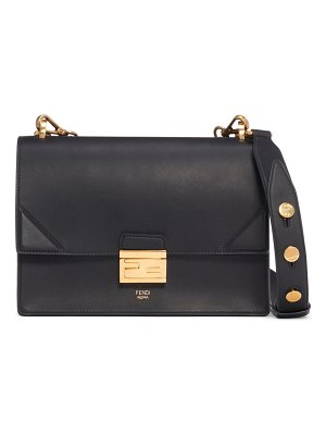 Fendi medium kan u leather shoulder bag