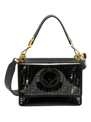 Fendi kan i f pvc shoulder bag