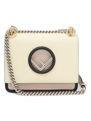 Fendi Kan I Mini Leather Cross Body Bag